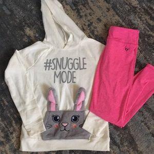Justice hoody & Leggings Bundle outfit